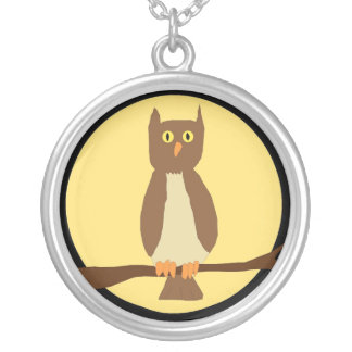 Owl in Moon necklace