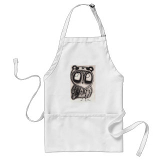 Owl in Panda-Hat Adult Apron
