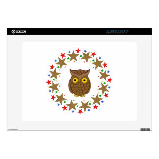 """Owl in Stars 15"""" Laptop Decal"""