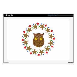 Owl in Stars Laptop Skin