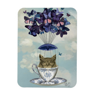 Owl In Teacup 2 Magnet