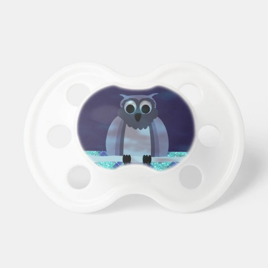 Owl In The Night Gingham Pacifier