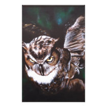 Owl in the night stationery