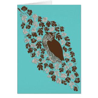 Owl in the Oak Blank Note Card