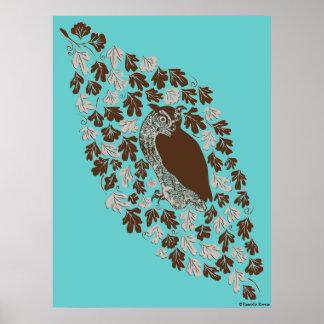 Owl in the Oak Posters
