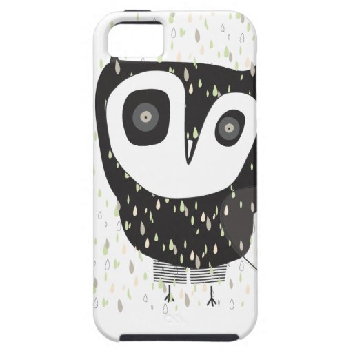 Owl in the rain iphone cover for owl lovers iPhone 5 covers