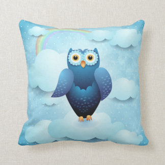 Owl in the sky pillow