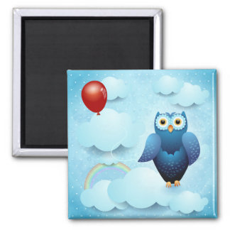 Owl in the sky refrigerator magnets