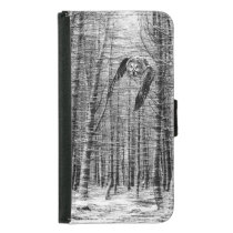 Owl in the woods samsung galaxy s5 wallet case