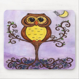 Owl in Tree Mousepads