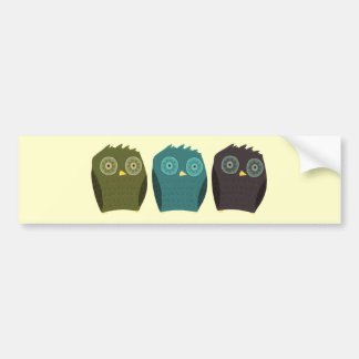 Owl in your head bumper sticker