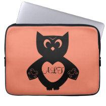 Owl Initials Laptop Sleeve
