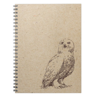 owl ink stamped journal