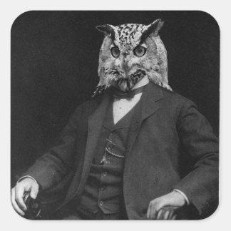 Owl Inventor Square Sticker