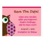 Owl Invitation Ensemble Post Cards