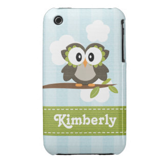 Owl iPhone 3g 3gs Case-Mate Case Cover Blue