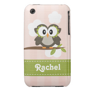 Owl iPhone 3g 3gs Case-Mate Case Cover Pink
