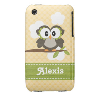 Owl iPhone 3g 3gs Case-Mate Case Cover Yellow