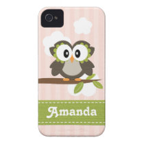 Owl iPhone 4 / 4s Case Mate Cover Pink