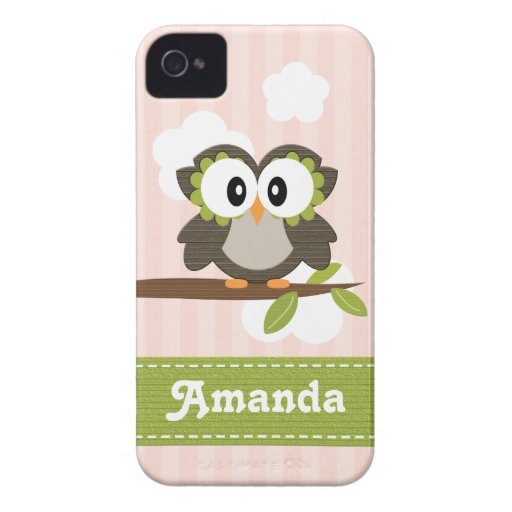 Owl iPhone 4 / 4s Case Mate Cover Pink iPhone 4 Case-Mate Cases
