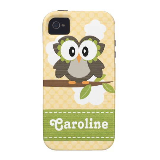 Owl iPhone 4 Case Mate Tough Yellow