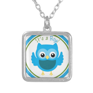 Owl It's a Boy Gender Reveal Necklaces