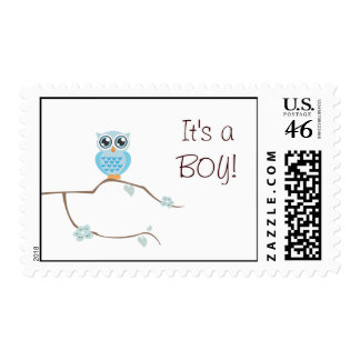 Owl It's Boy! Postage Stamp
