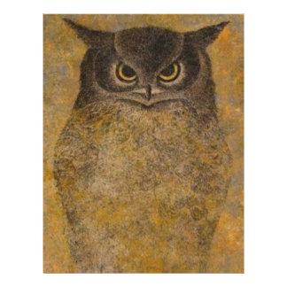 Owl Japanese Fine Art Letterhead
