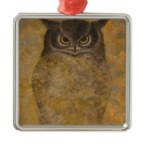 Owl Japanese Fine Art Metal Ornament