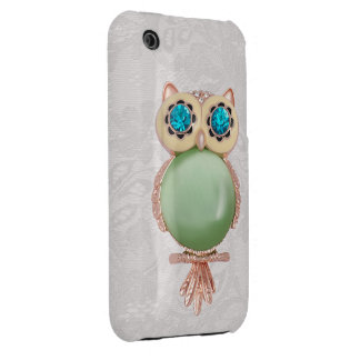 Owl Jewel & Paisley Lace iPhone 3G Case Case-Mate iPhone 3 Case
