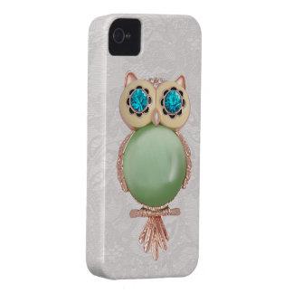 Owl Jewel & Paisley Lace iPhone 4 Case