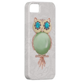 Owl Jewel & Paisley Lace PRINTED IMAGE Case For iPhone 5/5S