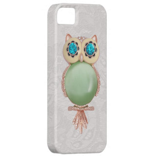Owl Jewel & Paisley Lace PRINTED IMAGE iPhone 5 Cases