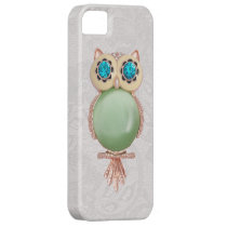 Owl Jewel & Paisley Lace PRINTED IMAGE iPhone SE/5/5s Case
