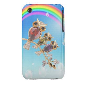 Owl Jewels Rainbow iPhone 3G Case iPhone 3 Cases