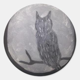 Owl.jpg Classic Round Sticker