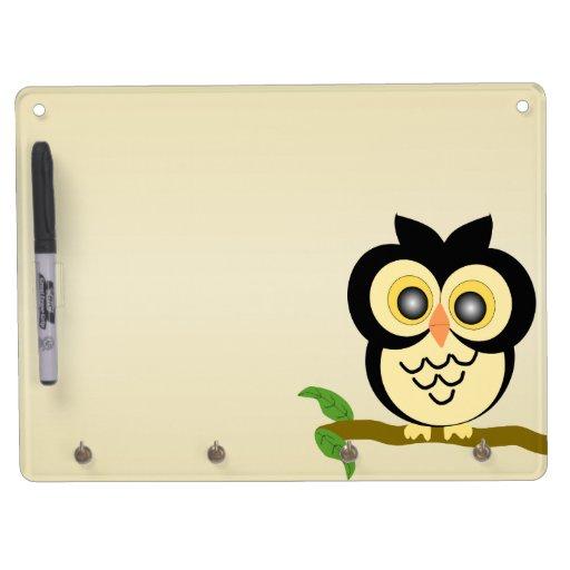 Owl Key Holder Board Dry-Erase Whiteboard