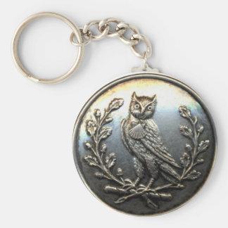 Owl Keychain brass look