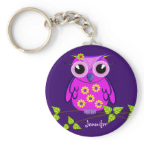 Owl keychain with Name