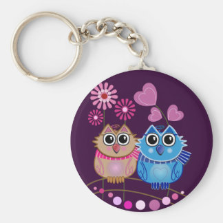 Owl keychain with Owl couple in Love