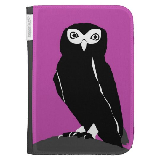 Owl Kindle Cover in Cerise