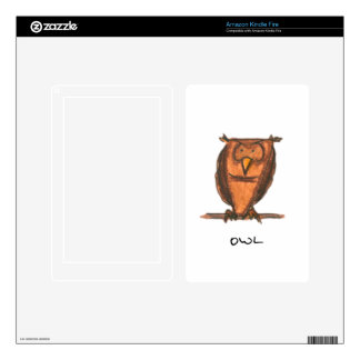 owl kindle fire cover decal for kindle fire