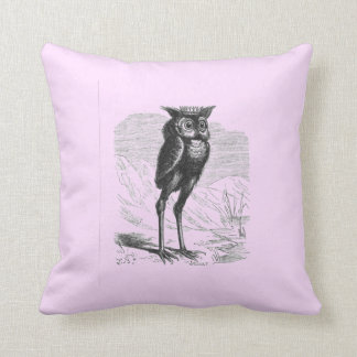 Owl King Demon Bird Throw Pillow