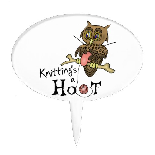 Owl Knitting Cake Toppers