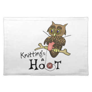 Owl Knitting Placemat