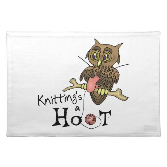 Owl Knitting Placemat