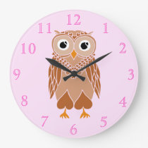 Owl Large Clock