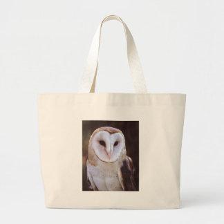 owl large tote bag