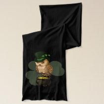 Owl leprechaun St. Patrick's day Scarf