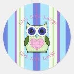 Owl ~ Live, Love, Laugh Stickers